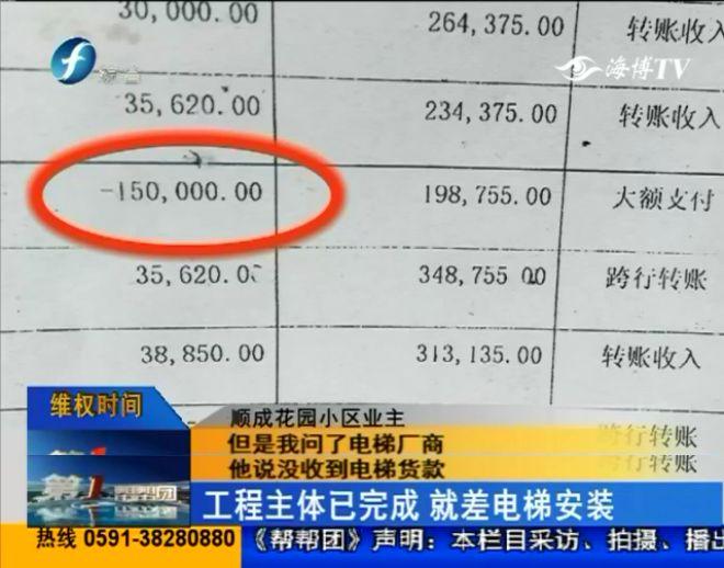 全款三十五万已交完,福州一小区。。加装电梯却歇工!