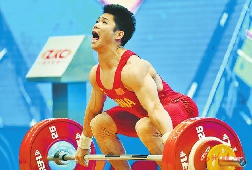 福州选手李发彬在2019举重世界杯上夺冠